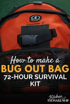 Be ready to go a moment's notice with a 72-hour emergency bug-out bag! Find out what to put in it and what NOT to put in it.
