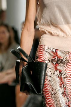 """""""Mixed-color pythons were exotic...and everywhere."""" Reed Krakoff Spring 2013 RTW"""