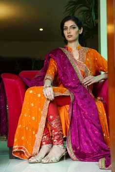 Beautiful orange premium fabric replica designer salwar kameez for evening party function online. Latest designer suit for women online in india. Pakistani Couture, Indian Couture, Pakistani Bridal, Pakistani Outfits, Indian Bridal, Pakistani Mehndi Dress, Mehendi Outfits, Indian Suits, Indian Attire