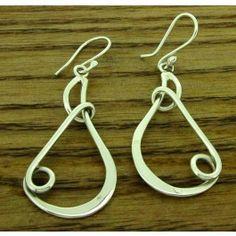 Teardrop Bubble Silver Earrings (566) | Silver Bubble: https://silverbubble.co.uk/teardrop-bubble-silver-earrings-566