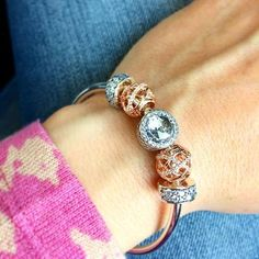 Finally sporting my #birthday #present from #hubby and #kids. #pandorabracelet was a first for me! Very #nice! | Content shared via Bazaarvoice Curations Gallery