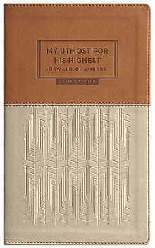 """The book was published after Oswald's death in 1917, with his wife Gertrude Hobbs compiling the passages after his death from her shorthand notes.The title is taken from one of Chambers's sermons, where he says """"Shut out every consideration and keep yourself before God for this one thing only- My Utmost for His Highest"""". The book is considered to be one of the most popular religious books ever written,inspiring several people such as author Cal Thomas and President George W. Bush."""