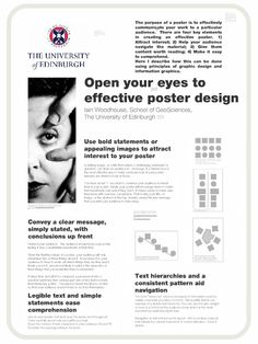 "The Art of the Scientific Poster"" by Iain Woodhouse (a prezi presentation) Academic Poster, Research Poster, Academic Writing, Poster Design Layout, Poster Design Inspiration, Scientific Poster Design, Conference Poster, Literary Theory, Plakat Design"