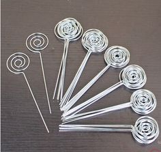 50pcs DIY ring loop circle shape craft wire picture&memo&note&photo&card holder clips,wholesale clay&cake clamp accessories