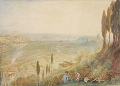 Rome from Monte Mario, 1820. Joseph Mallord William Turner.