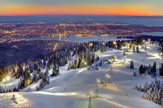 Vancouver as seen from the top of Grouse Mtn. North Vancouver British Columbia Canada