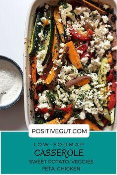 Low FODMAP casserole with sweet potato veggies