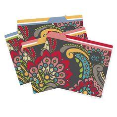 paisley - file folders
