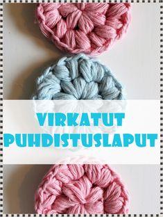 Virkatut puhdistuslaput Crochet reusable cotton pads