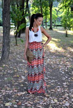 Print & Tank: 30 Maxi Skirts And Maxi Dresses For This Season