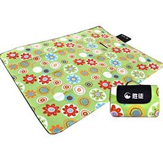 Green Flowers Outdoor Beach Camping Picnic Blanket Picnic Mat Green -- Find out more about the great product at the image link.