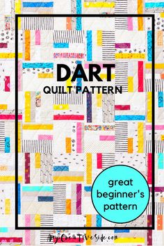 This beautiful, scrap quilt is made up of small blocks. It is simple to make and perfect for beginning quilters, video tutorial included! The quilt can be made from fat quarters or even fabric scraps. Our pattern is available in PDF or paper copy and can be made into 3 sizes: baby, throw, and twin. Traditional Quilt Patterns, Modern Quilt Patterns, Beginner Quilt Patterns, Quilting For Beginners, Easy Quilts, Mini Quilts, Geometric Quilt, Log Cabin Quilts, Sewing Basics