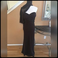 ✨ GORGEOUS BROWN EVENING DRESS✨ Practically brand new. Worn only for about 4hours. Gorgeous! Eye catcher. Purchase at Saks. A.B.S. Dresses Maxi