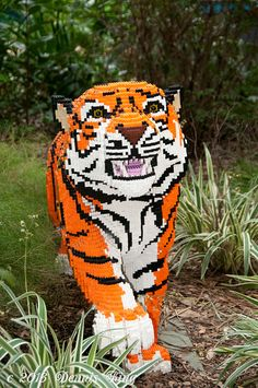 Lego Tiger! If only I had more Legos! --- Come see our North Dallas Toy Show, 1st Saturday of Every Month!