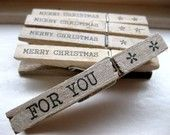 wrapping idea....stick these onto twine-wrapped gifts! love!