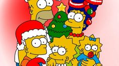 new year, christmas, simpsons - http://www.wallpapers4u.org/new-year-christmas-simpsons/