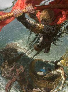 Mais impressionantes ilustrações de fantasia e ficção científica com um estilo…