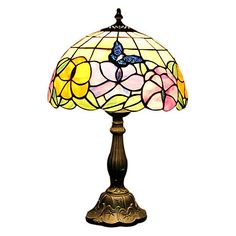 EAUBONNE - Lampada da tavolo stile tiffany in vetro – EUR € 115.49
