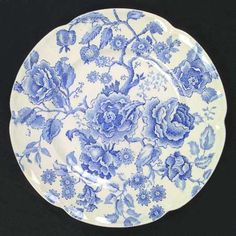 ENGLISH CHIPPENDALE-BLUE - Johnson Brothers England (another pattern I really love.)
