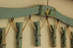 vintage blue coat hanger