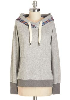 It's All in the Path Hoodie. Sometimes life just leads you in the right direction - toward this too-cute hoodie! #grey #modcloth