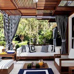 Outdoor Living Rooms, Outdoor Spaces, Outdoor Decor, Sofa Area Externa, Design Exterior, Terrace Design, Backyard Patio Designs, Home Deco, Future House