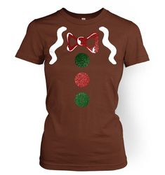 Gingerbread Man Costume Deluxe womens t-shirt by BigMouthUK
