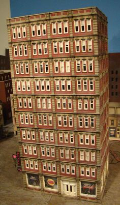 HO Scale Building Bachmann Triple Height Dept Store Built Lights Lighted Signs | eBay