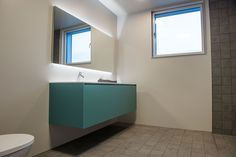 Turquoise Piana bathroomfurniture from Antoniolupi.
