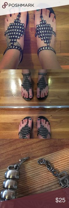 Sandals Sandals like new. Worn maybe once if that. Size 8. Metallic. Excellent condition. Not Rated Shoes Sandals
