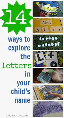 14 ways to learn letters- hands on activities for kids to explore the letters in their own name