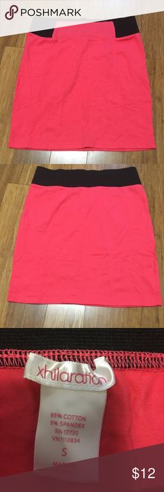 Xhilaration Coral color mini skirt! This beautiful color skirt is NWOT and has been in the back of my closet. Now giving the chance to a lucky person to own!! It is a stretchy Cotten material and fits great! Elastic waist for comfort!👌🏽👌🏽 great for a spring day with tights or summer with a cute jeans jacket!! Dress it up in your personal style! ☀️☀️🌺🌺 Xhilaration Skirts Mini