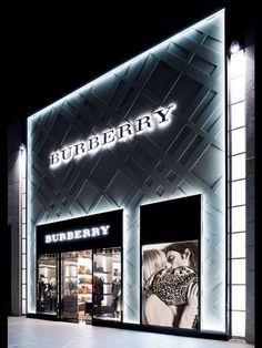 New burberry store - santiago, chile loja burberry, burberry shop, tienda fashion, Burberry Store, Facade Design, Exterior Design, Tienda Fashion, Fashion Fashion, Fashion Jewelry, Retail Facade, Jewelry Store Design, Jewelry Making Tutorials