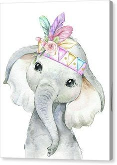 Diy canvas art 170010954671338777 - Rainbow Feather Tribal Watercolor Elephant Canvas Wall Art Print Boho Safari Zoo Animal Source by pinkforestcafe Baby Animal Drawings, Cute Drawings, Drawing Animals, Watercolor Animals, Watercolor Lion, Simple Watercolor, Watercolor Illustration, Tattoo Watercolor, Watercolor Flowers