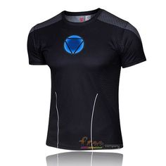 NEW Marvel Captain America 2 Super Hero lycra compression tights sport T shirt Men fitness clothing short sleeves S-XXXX