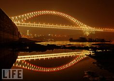 Chaotianmen Bridge in Chongqing, China, we went over this bridge almost daily went we doing our paperwork to bring Ava home Places To Travel, Places To Go, Chongqing China, Pedestrian Bridge, China Travel, Life Magazine, Sydney Harbour Bridge, Vacation Destinations, Beautiful Landscapes