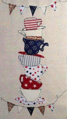 Teacups Applique