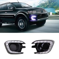 (69.98$)  Buy here - http://ai8y9.worlditems.win/all/product.php?id=32726463632 -  For Mitsubishi  Pajero Sport 2013 2014 2015 LED Daytime Running Light With Fog Lamp Hole & Turning light Function Best Quality