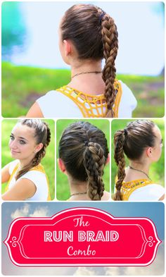 The Run Braid Combo | Hairstyles for Sports #braid #hair #hairtutorial #tutorial #hairstylesforsports