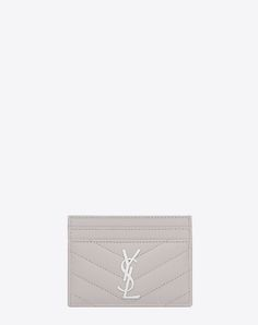 Saint Laurent Monogram Card Case In Grain De Poudre Embossed Leather In Pale Blush Saint Laurent Card Holder, Fab Bag, Cheerleading Outfits, Pink Cards, Texture, Cute Bags, Beautiful Bags, Wallets For Women, Accessories