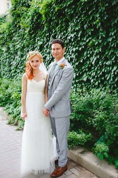 A Vintage Garden-Themed Wedding in Manitoba - Bride and Groom