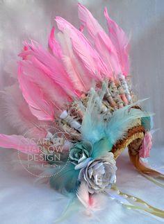 scarlet harlow design. handmade indian headdress