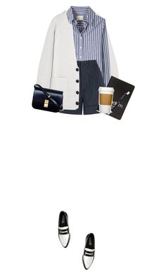 """Senza titolo #902"" by corni-co-te-bravi ❤ liked on Polyvore featuring Steve Madden, Proenza Schouler, Band of Outsiders, Totême, Dinks, CÉLINE, Georg Jensen and BackToSchool"