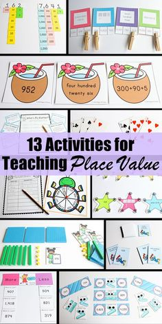 Do you need some fun ideas for teaching 2nd grade math? This second grade place value unit is full of fun activities to help your students master place value! It includes 26 worksheets and 13 hands on activities for centers. Click on the picture to see the details about each worksheet and center activity.