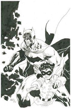 Batman & Robin original Art By Daniel Kesner 11x17   eBay
