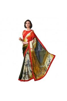 Define your beauty by draping this multicoloured pure satin georgette saree with blouse #georgettesareesonline #womensfashion #ethnicsarees #partywearsarees #printedsareesonline Shop now-  https://trendybharat.com/multicoloured-pure-satin-georgette-and-saree-with-blouse-dfs581a?search=ethnic%20saree&page=14