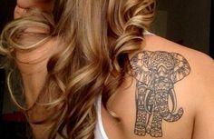 mandala tattoo lotus mandala rücken elefant