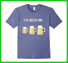 Mens Yo! Beer Me T-Shirt 3XL Heather Blue - Food and drink shirts (*Amazon Partner-Link)
