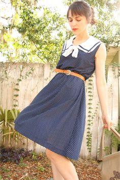 vintage dress - embroidered vintage bag - leather thrifted belt