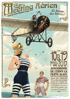 New poster for airshow La Ferté Alais near Paris in May 2013.